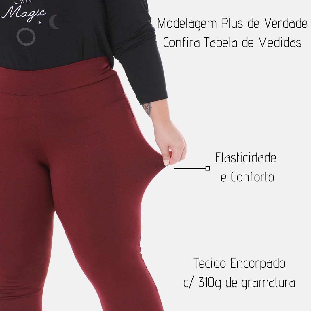 Calça Legging Lisa Plus Size 1133 Várias Cores