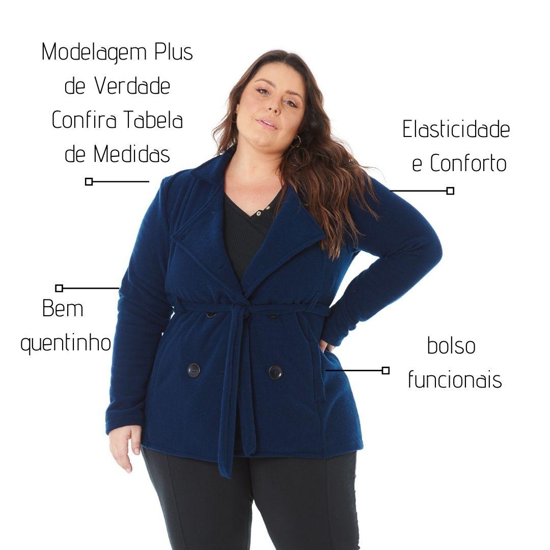 Casaco Parka Plus size com Botões 103620