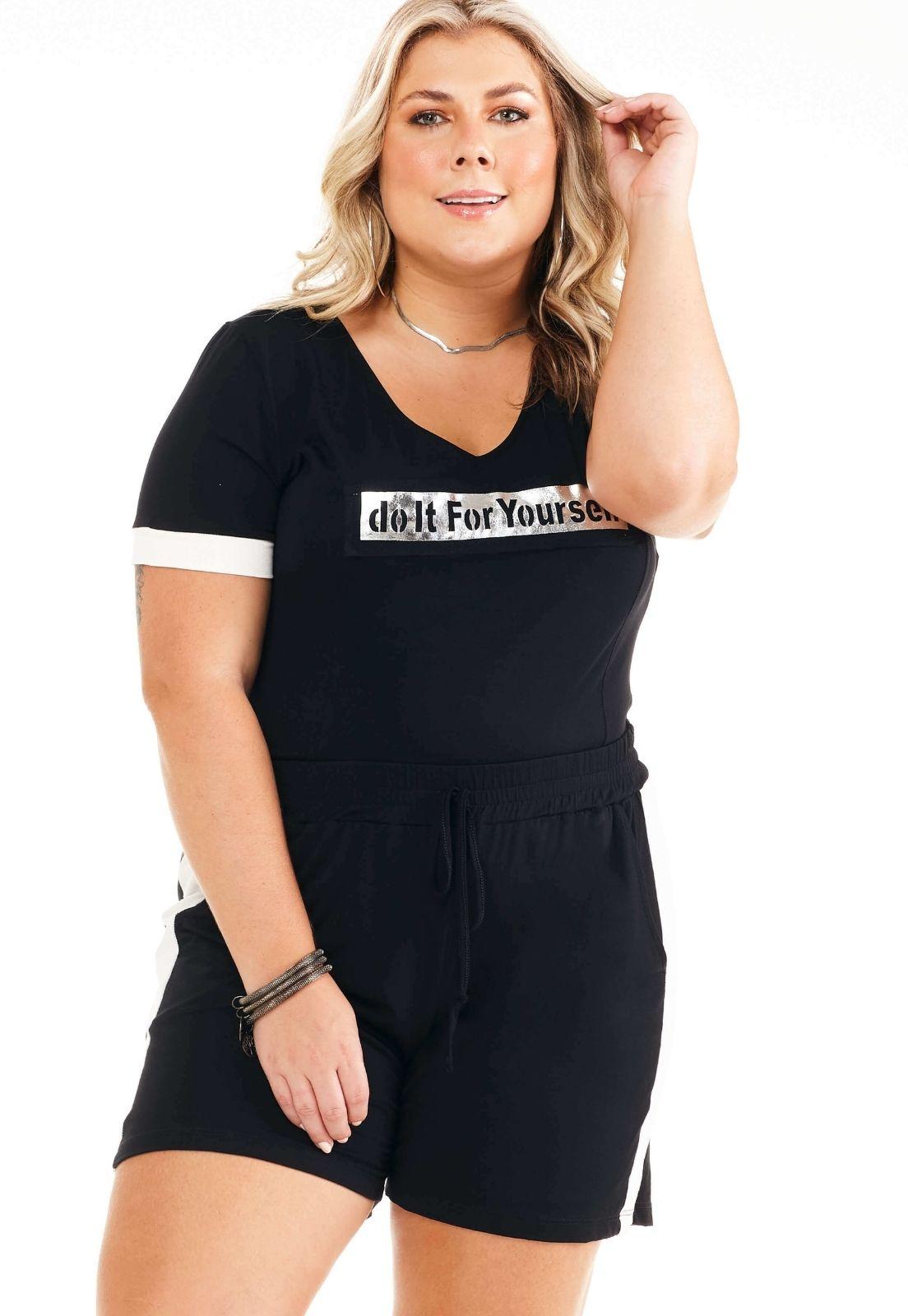 Conjunto Blusa e Shorts Feminino Plus Size 101478
