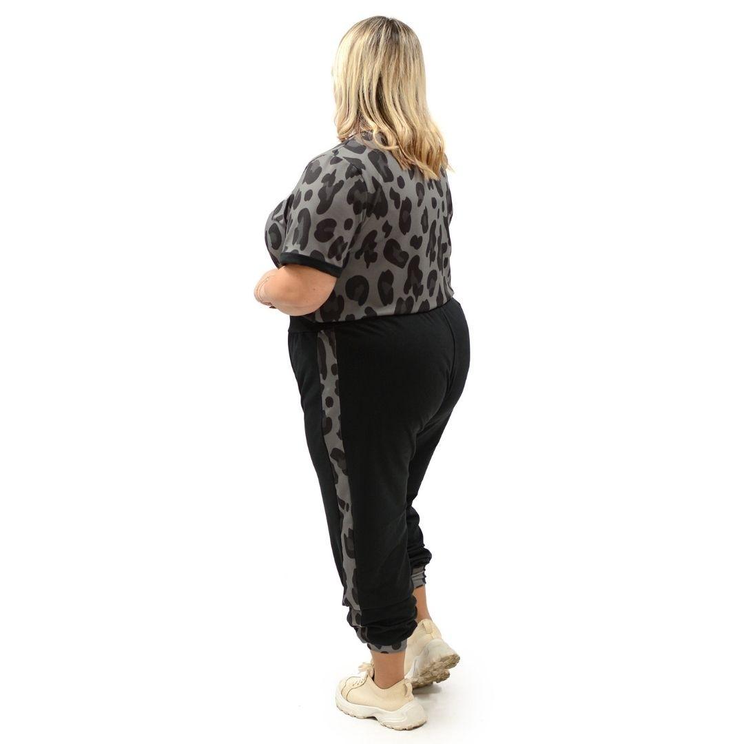 Conjunto calça Jogger e Blusa Animal Print 102548