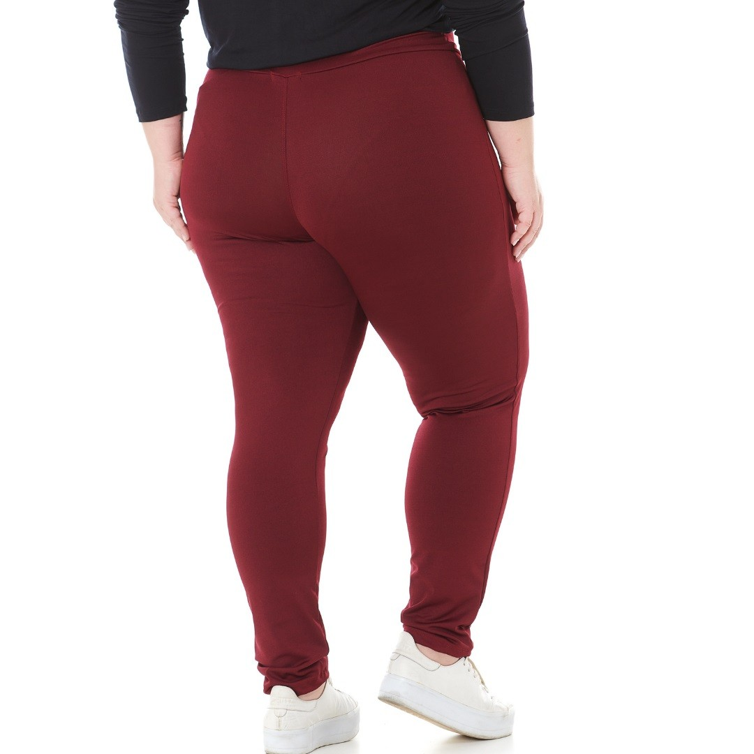 Kit 2 Calcas Legging Plus Size Suplex Bordô e Marinho 1133