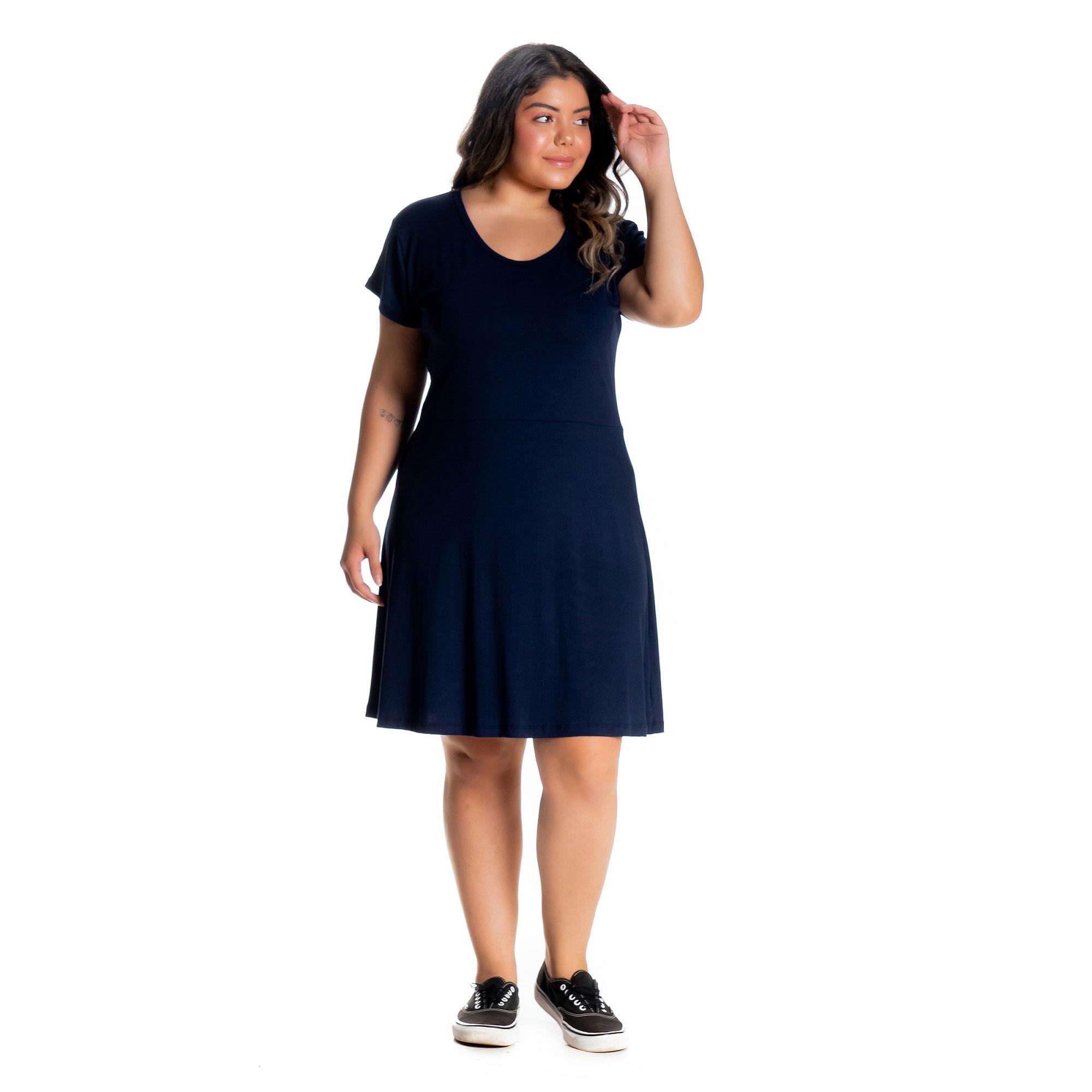 Kit 2 Vestidos Plus Size De Malha Viscose Com Elastano 1146