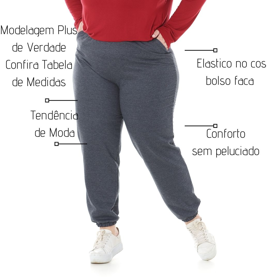 Kit 3 Calça Jogger De Moletom Feminina1135