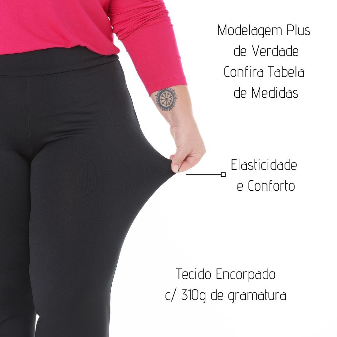 Kit 4 Calças Leg Fitness Lisa Feminina Suplex Cos Alto 1133