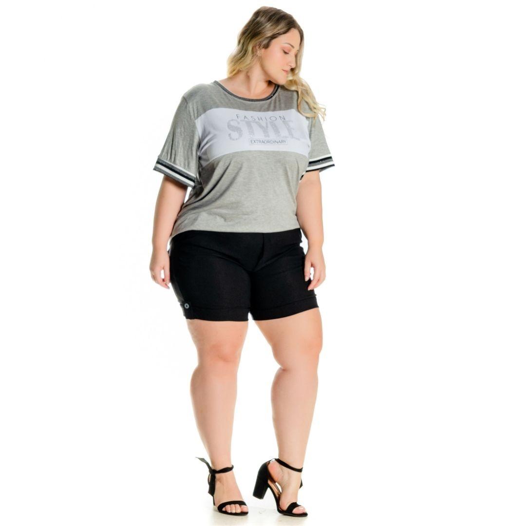 Shorts com lapela e Botões 102530