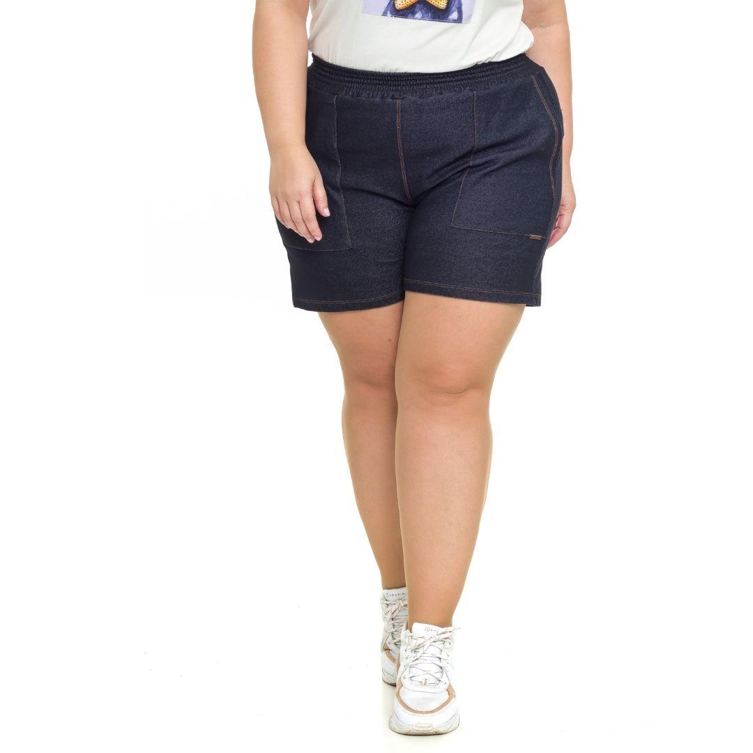 Shorts feminino Plus Size jeans 1097 (103763)