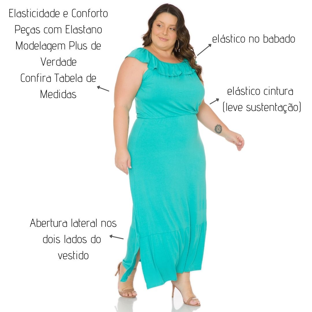 Vestido Longo Com Babado 103743