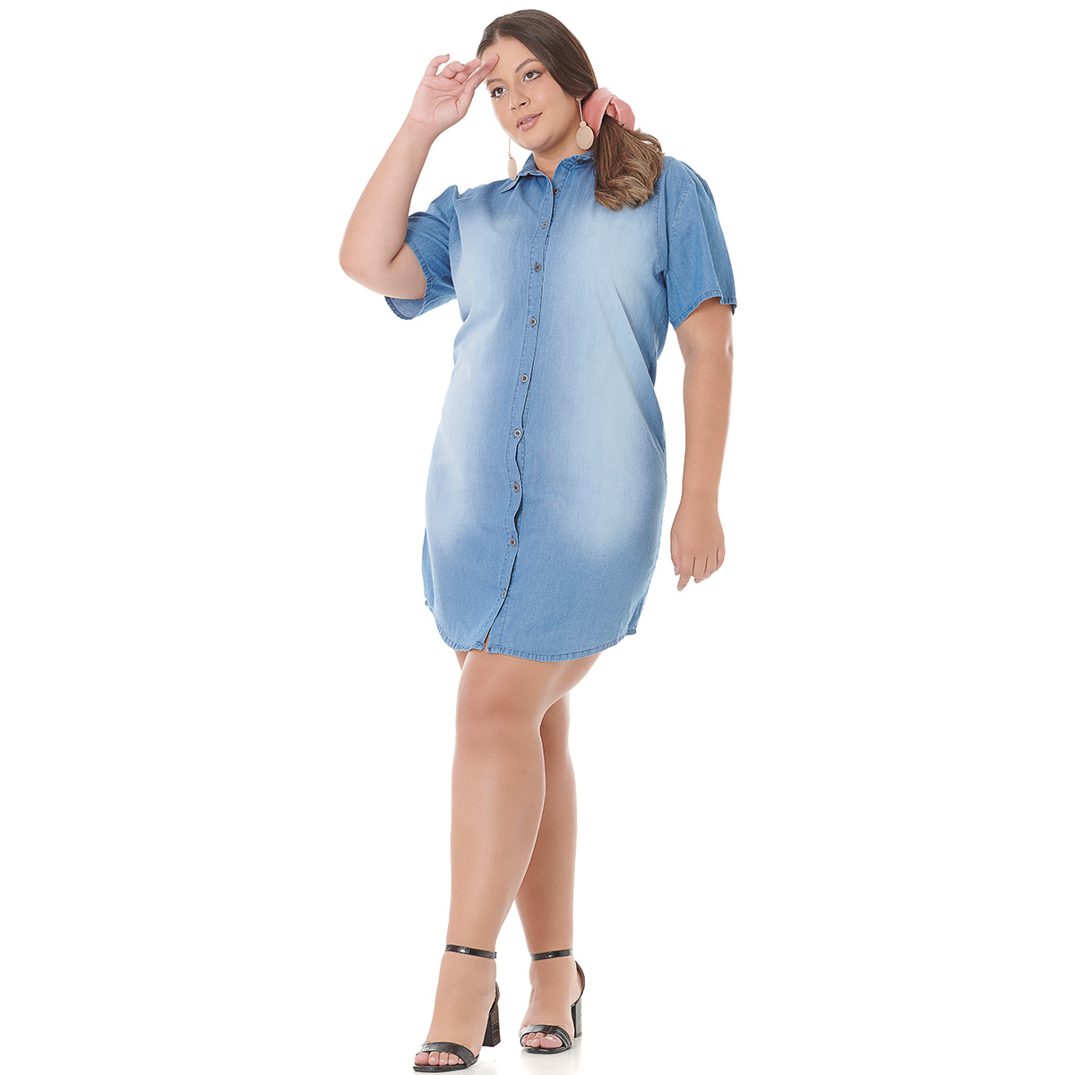 Vestido Plus Size Feminino Jeans 4000