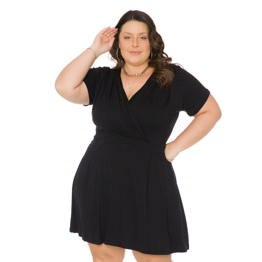 Vestido Transpassado Plus Size Feminino 103745