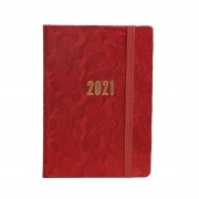 Agenda Diária 2021 Paisley (vermelho)
