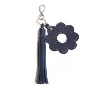 Chaveiro franja e flor (Montana Azul Marinho)