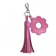 Chaveiro franja e flor (Montana Pink)