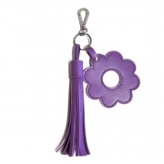 Chaveiro franja e flor (Montana Púrpura)