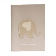 Porta carteira de vacinação (Elefante Bege)