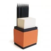 Porta lápis com bloco (Montana Laranja)