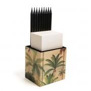Porta lápis com bloco (Palmeiras)