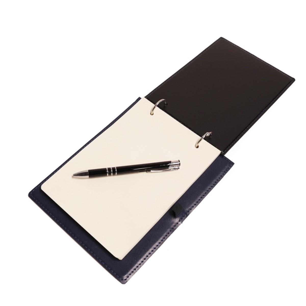 Bloco argola com caneta (Montana Azul Marinho)