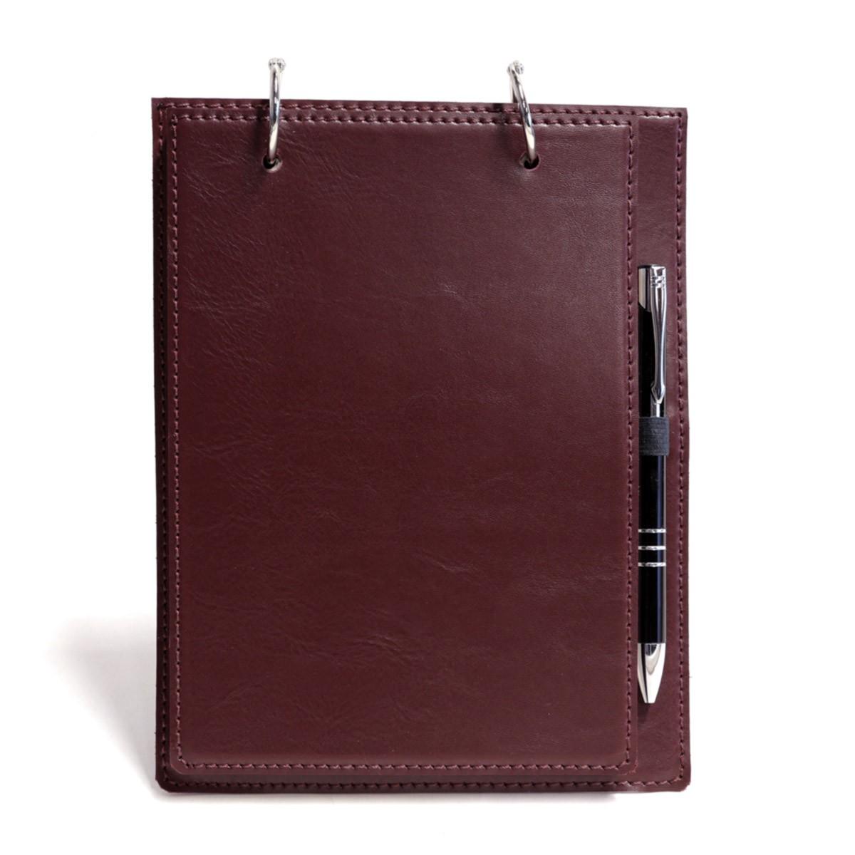 Bloco argola com caneta (Montana Bordô)