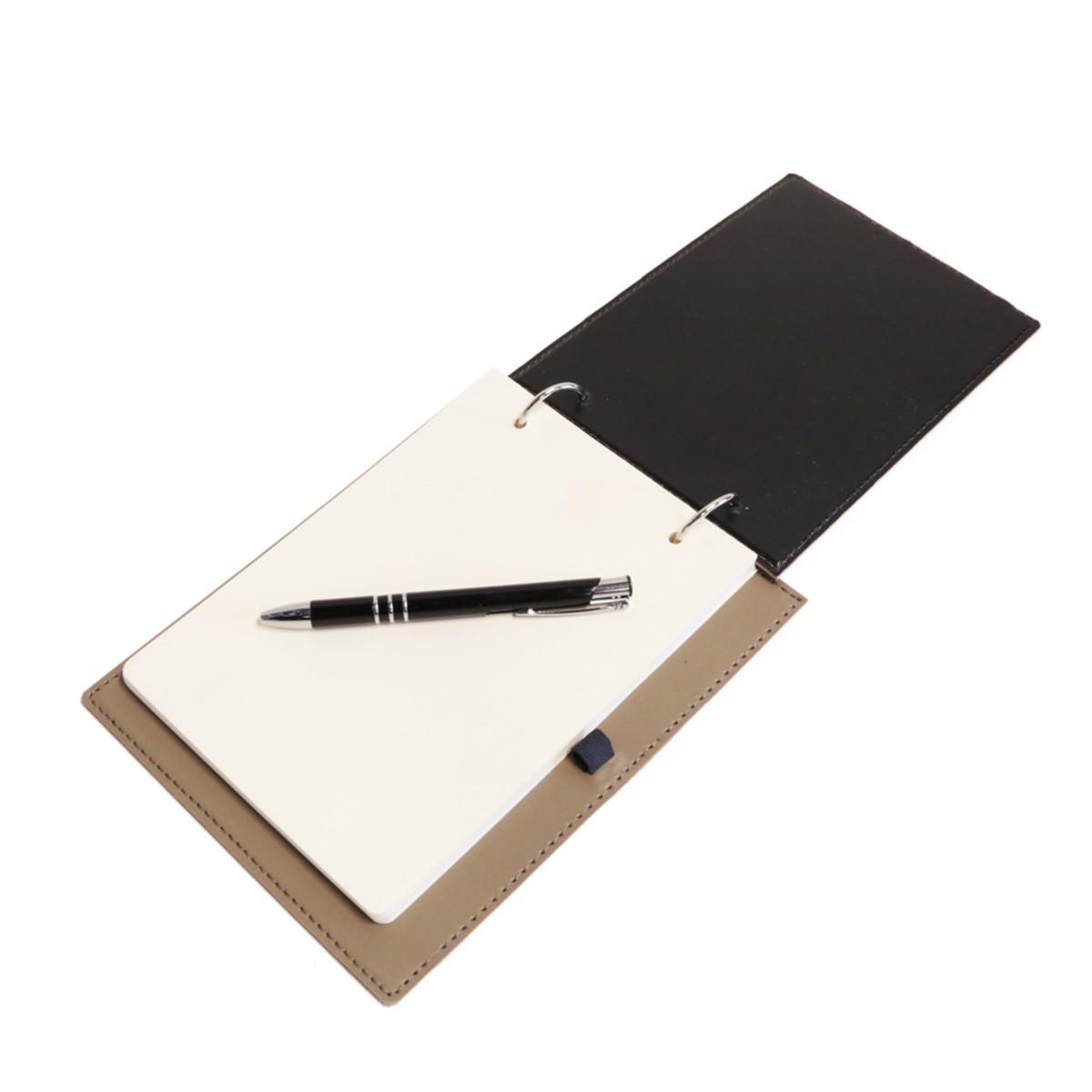 Bloco argola com caneta (Montana Fendi)
