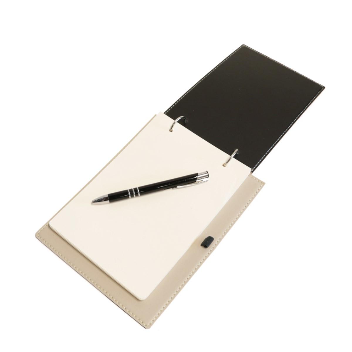 Bloco argola com caneta (Montana Gelo)