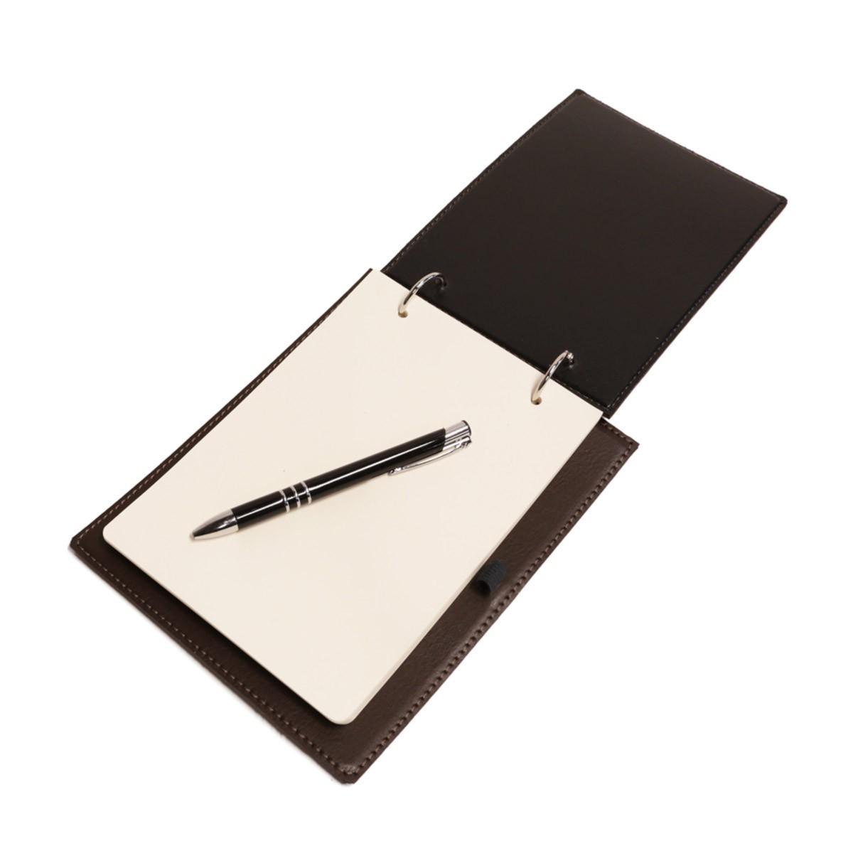 Bloco argola com caneta (Montana Marrom)
