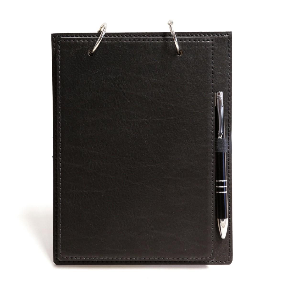 Bloco argola com caneta (Montana Preto)