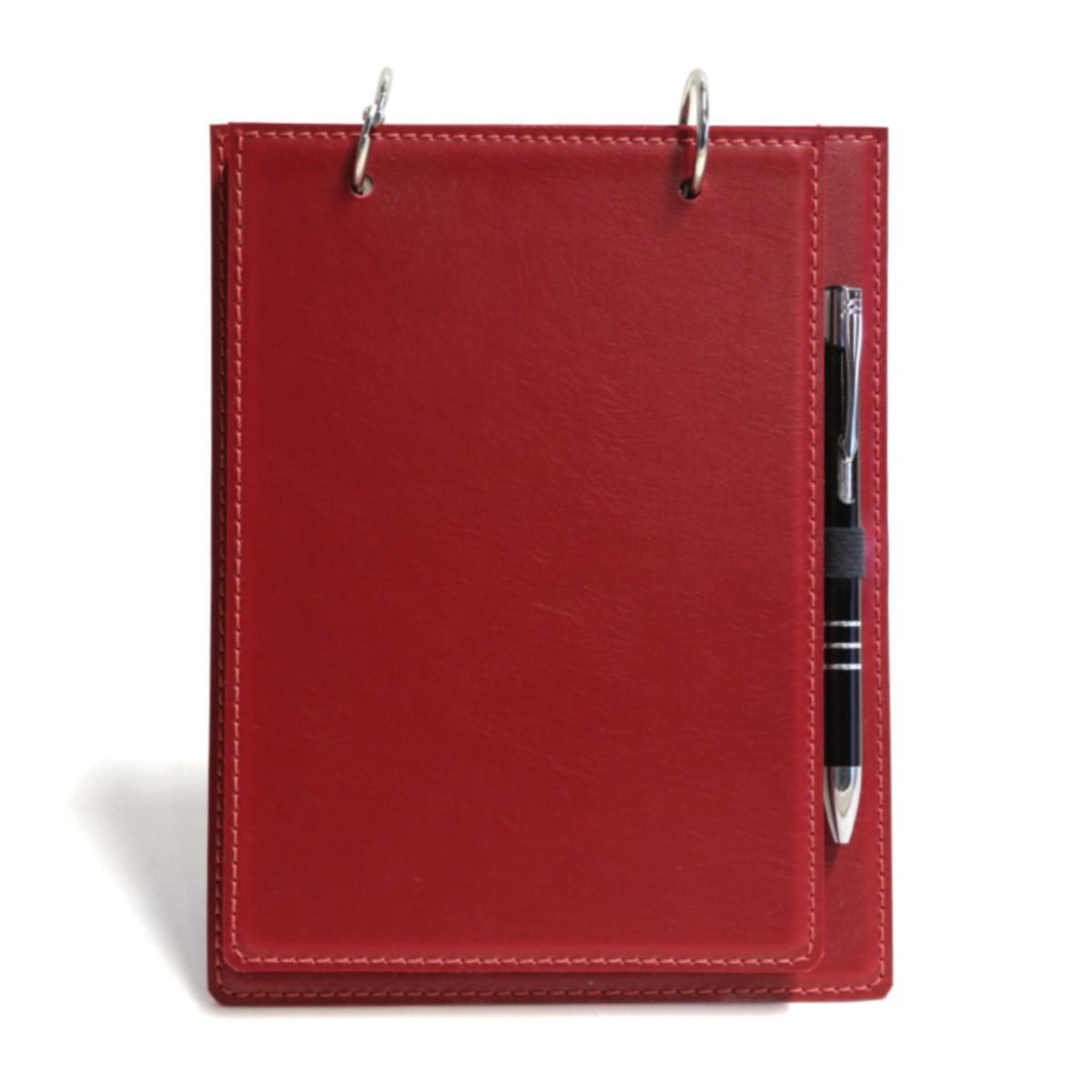 Bloco argola com caneta (Montana Vermelho)