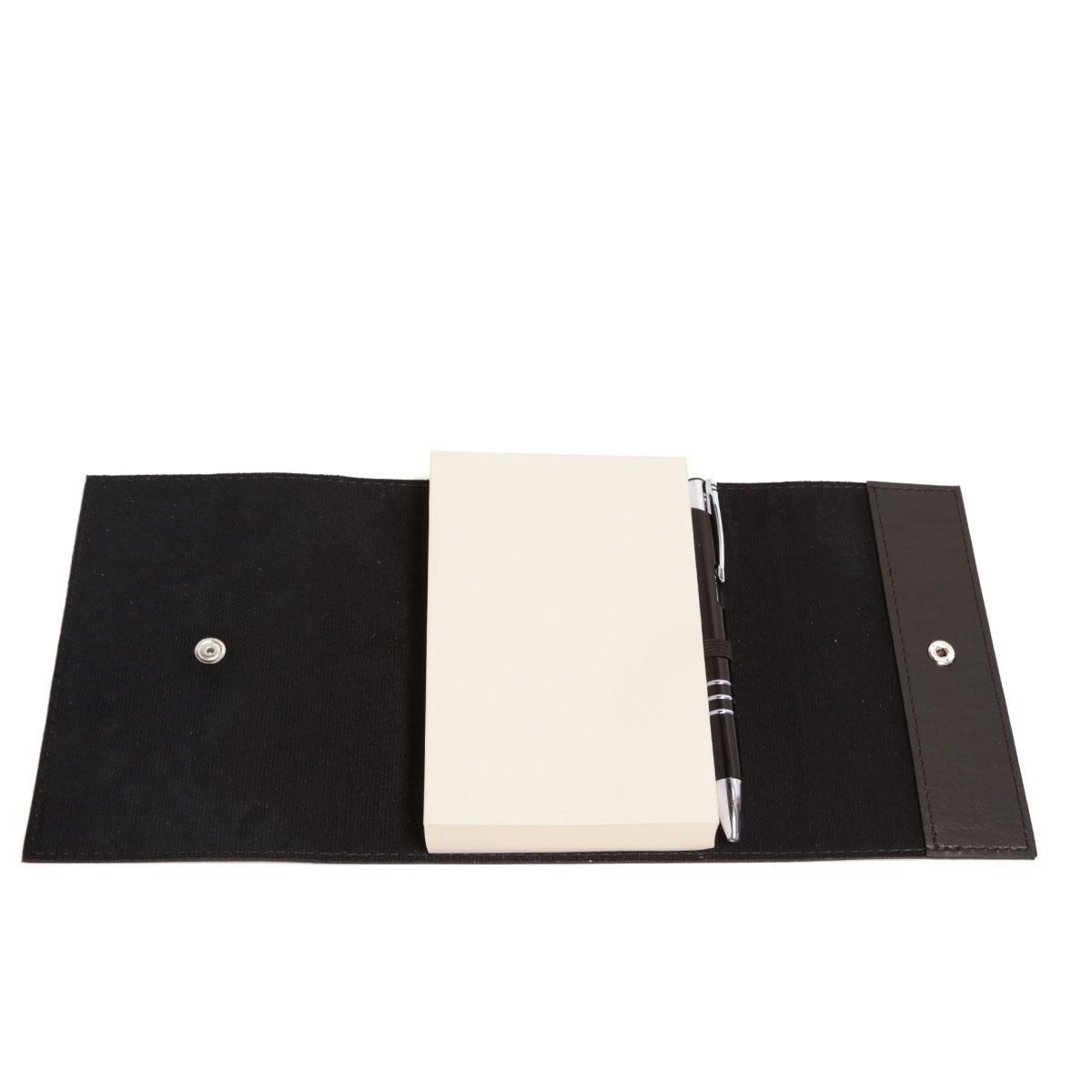 Bloco envelope com caneta (Montana Preto)
