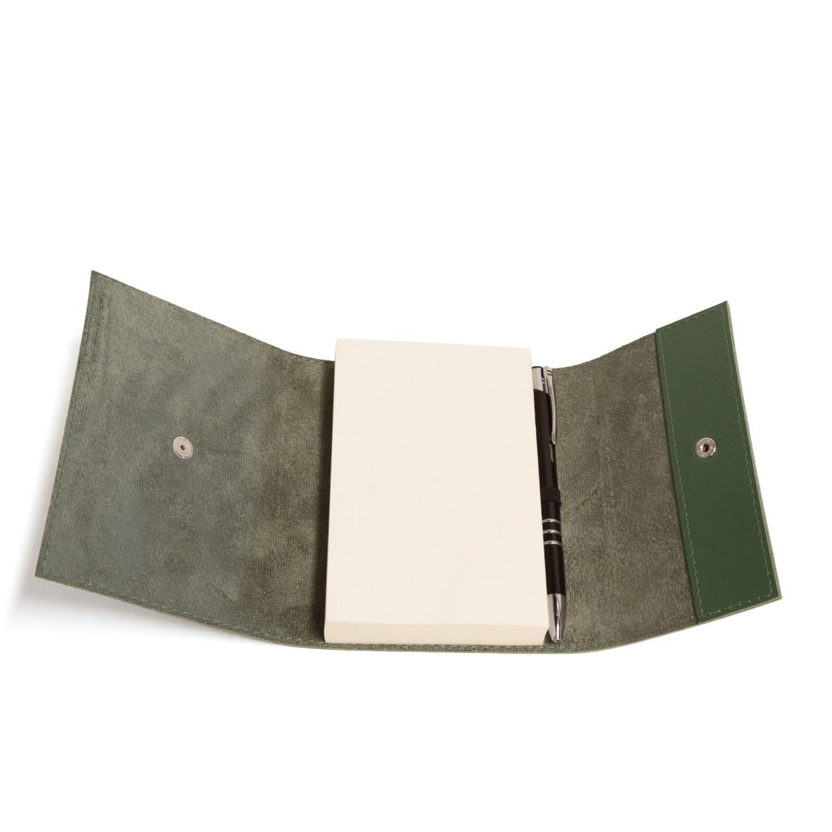 Bloco envelope com caneta (Montana Verde Musgo)