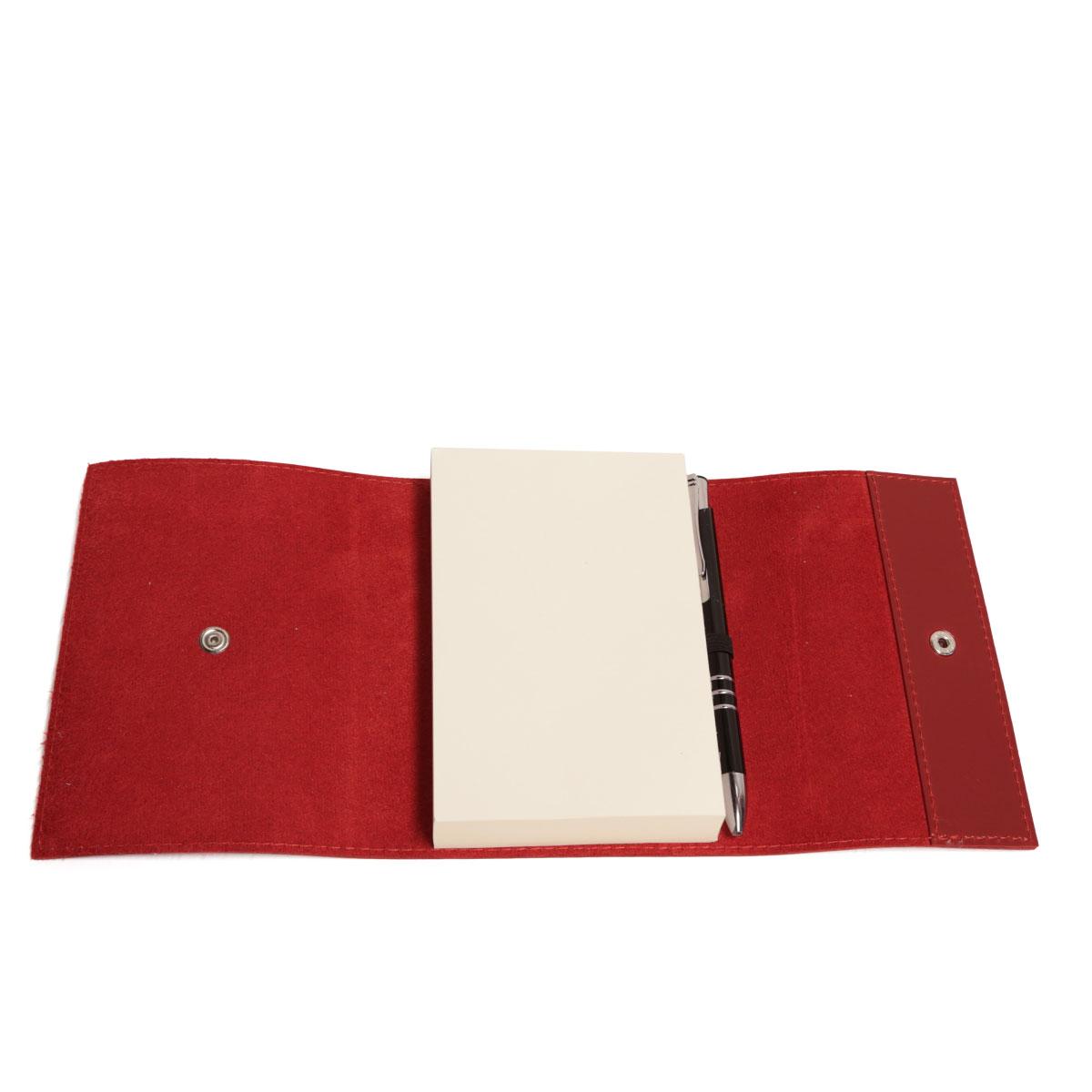Bloco envelope com caneta (Montana Vermelho)