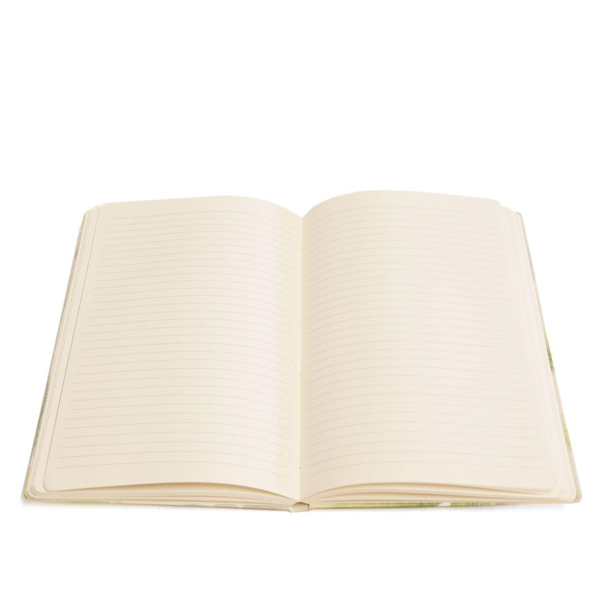 Caderno pautado (Florear Azul)