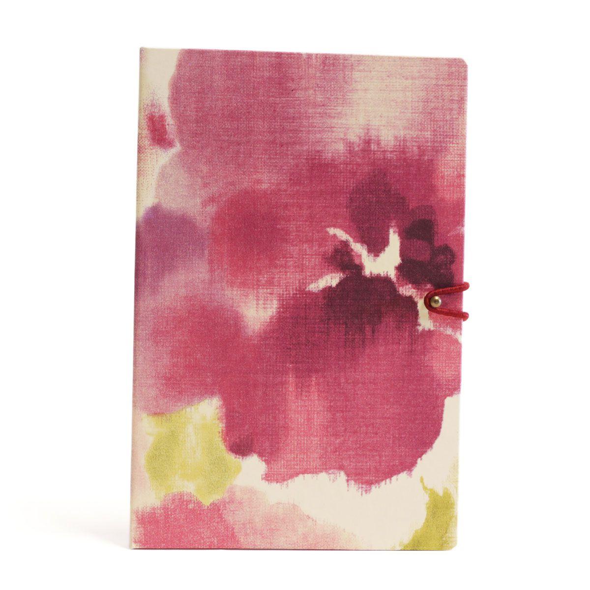 Caderno pautado (Florear Rosa)