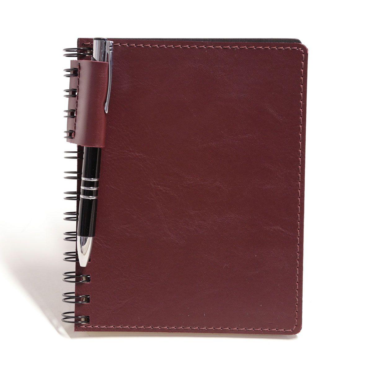 Caderno wire-o com caneta (Montana Bordô)