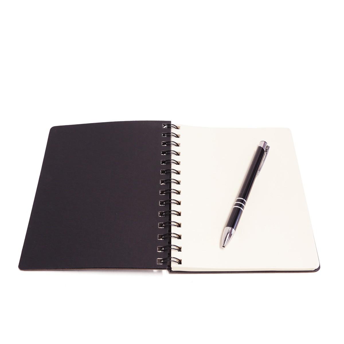 Caderno wire-o com caneta (Montana Fendi)