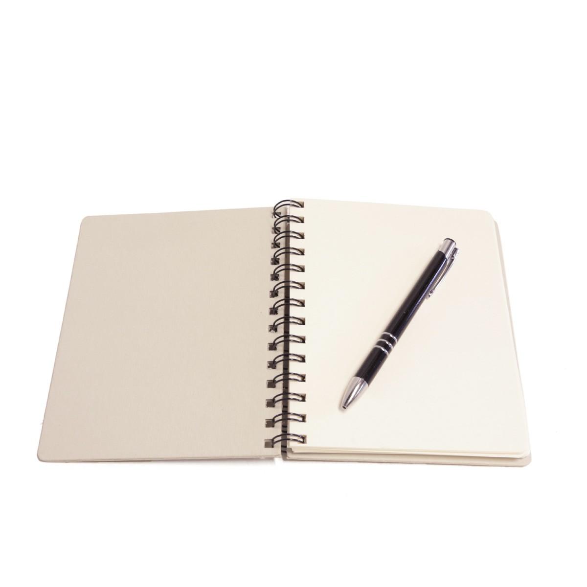 Caderno wire-o com caneta (Montana Gelo)