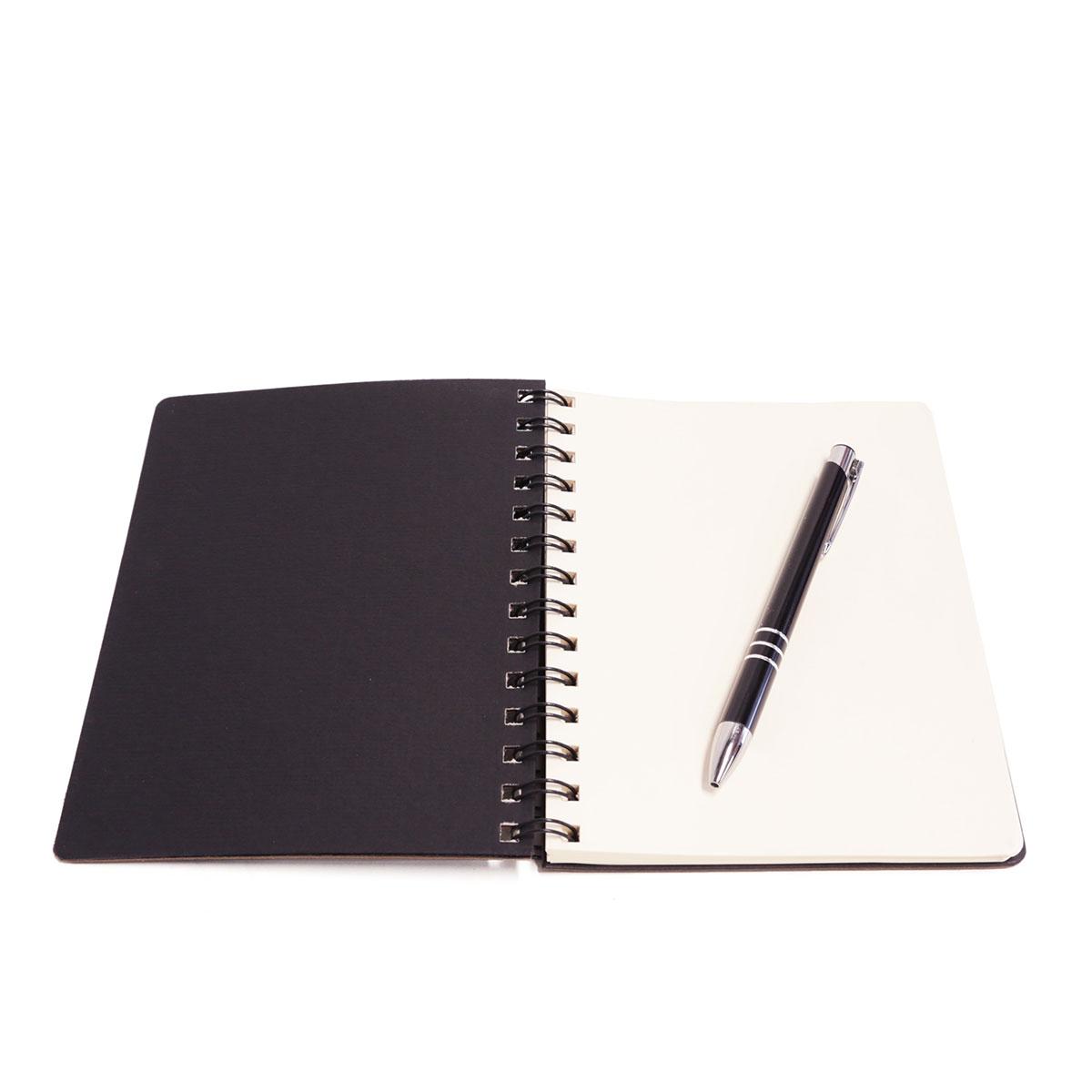Caderno wire-o com caneta (Montana Grafite)