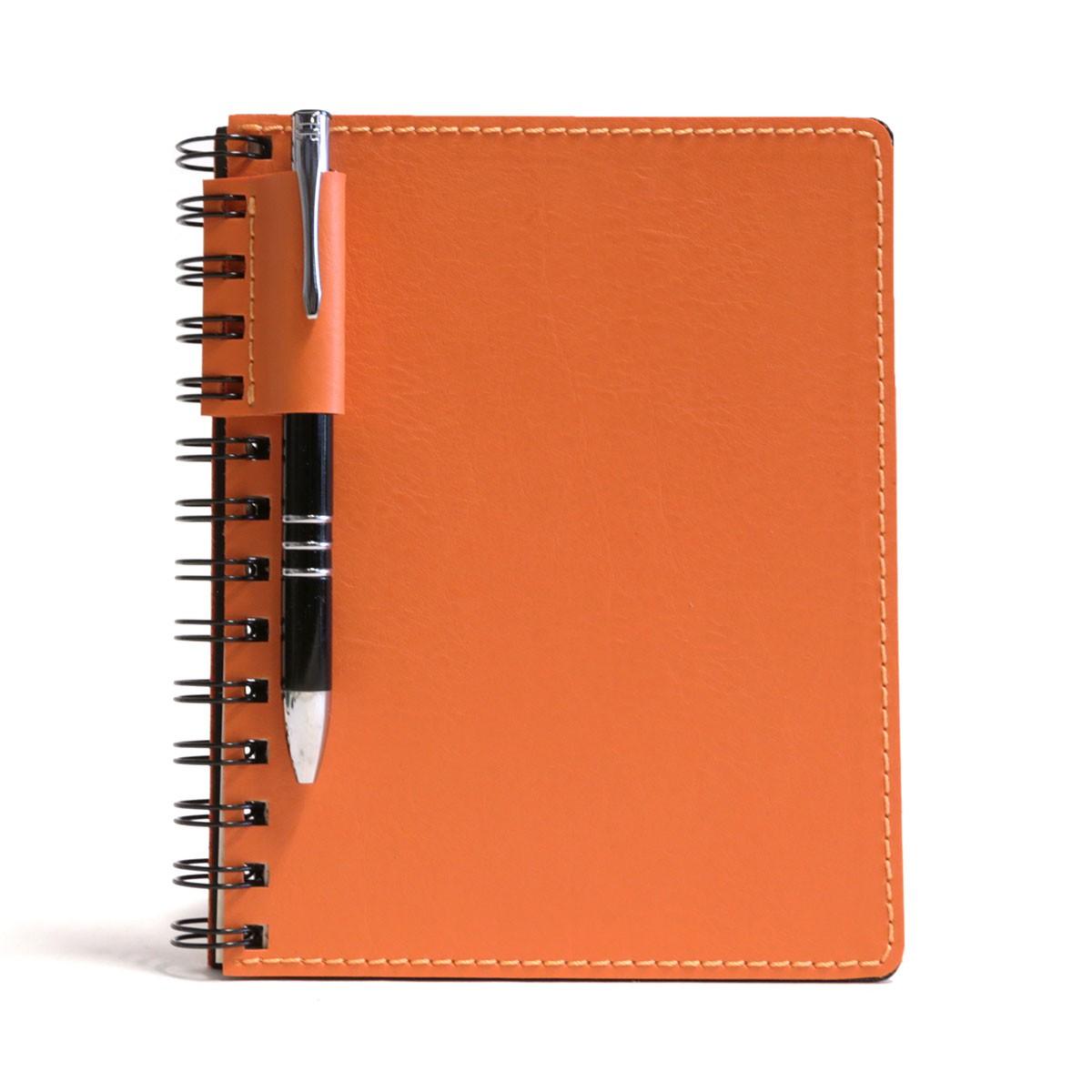 Caderno wire-o com caneta (Montana Laranja)