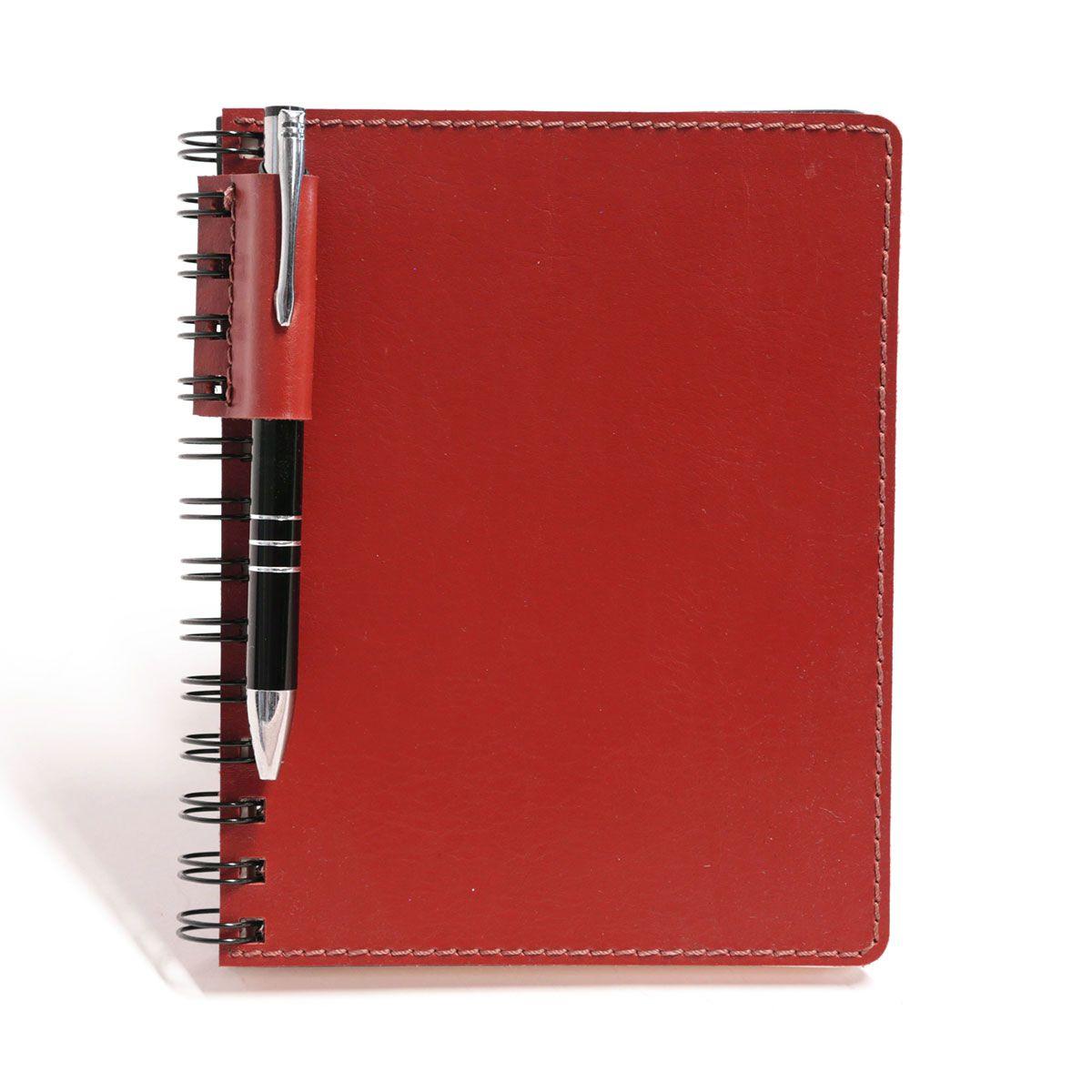 Caderno wire-o com caneta (Montana Vermelho)