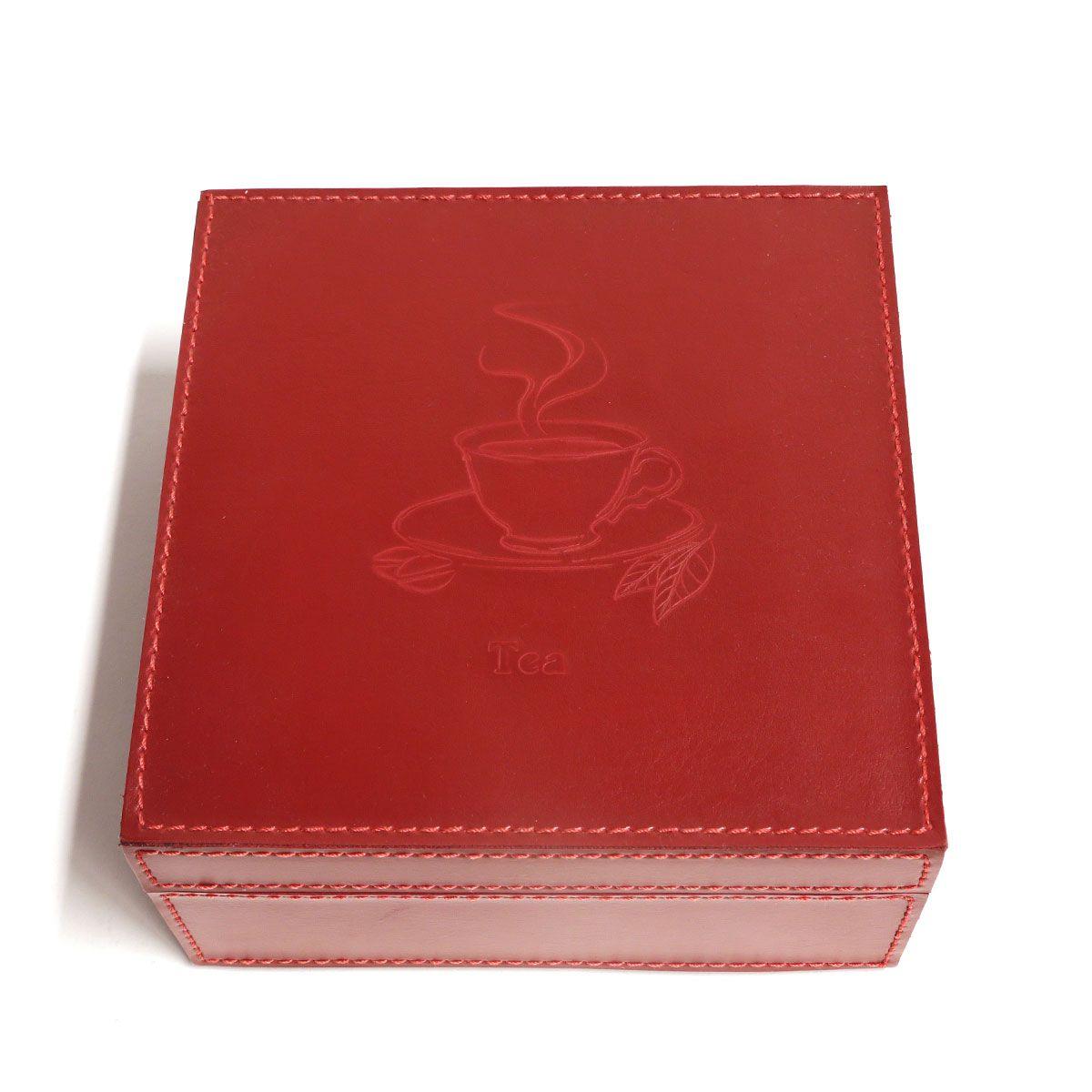 Caixa de chá (Montana Vermelho)