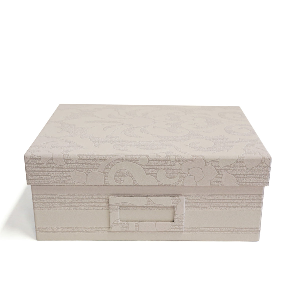 Caixa Tampa Fixa (Touch Arabesco Off White)