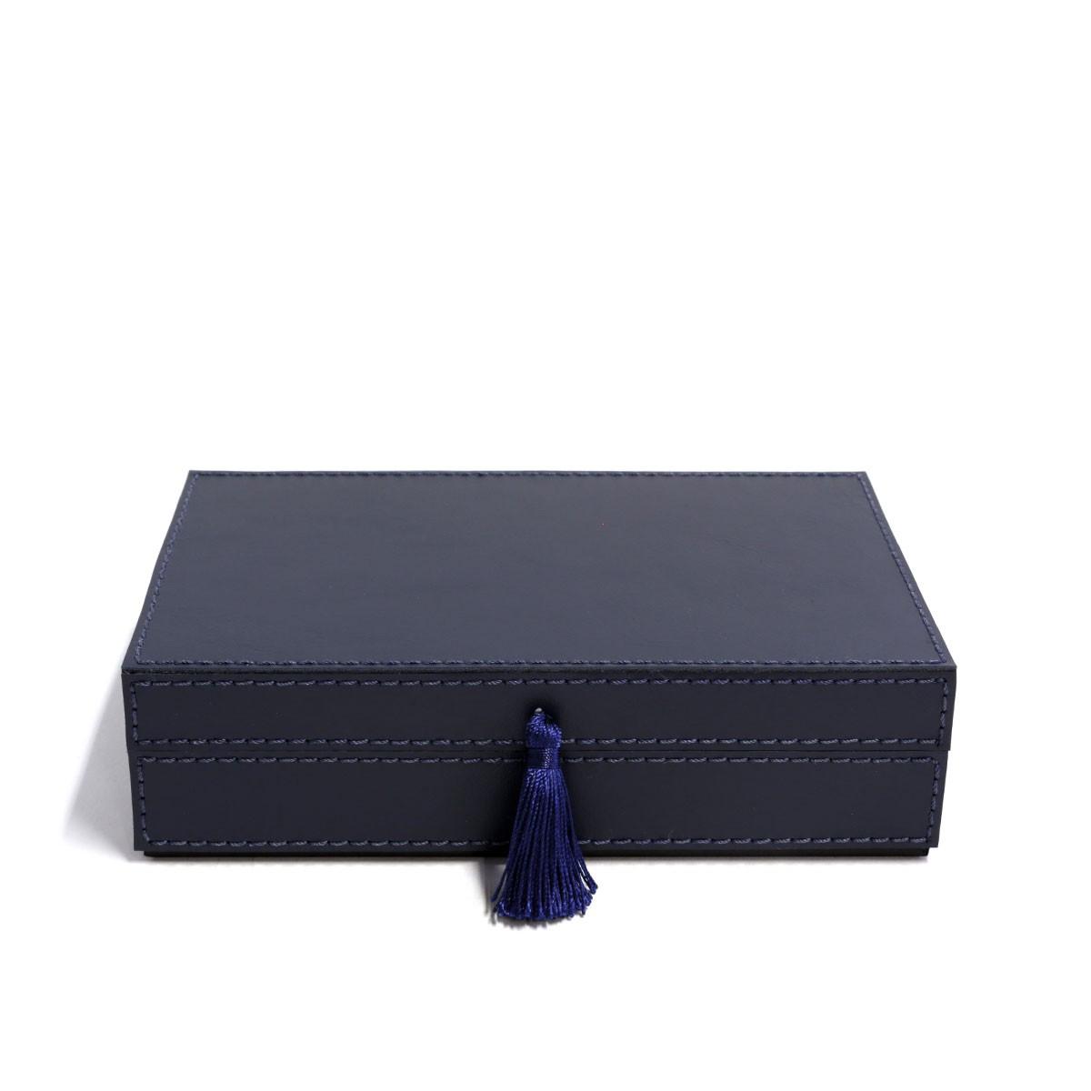 Caixa porta joias (Montana Azul Marinho)
