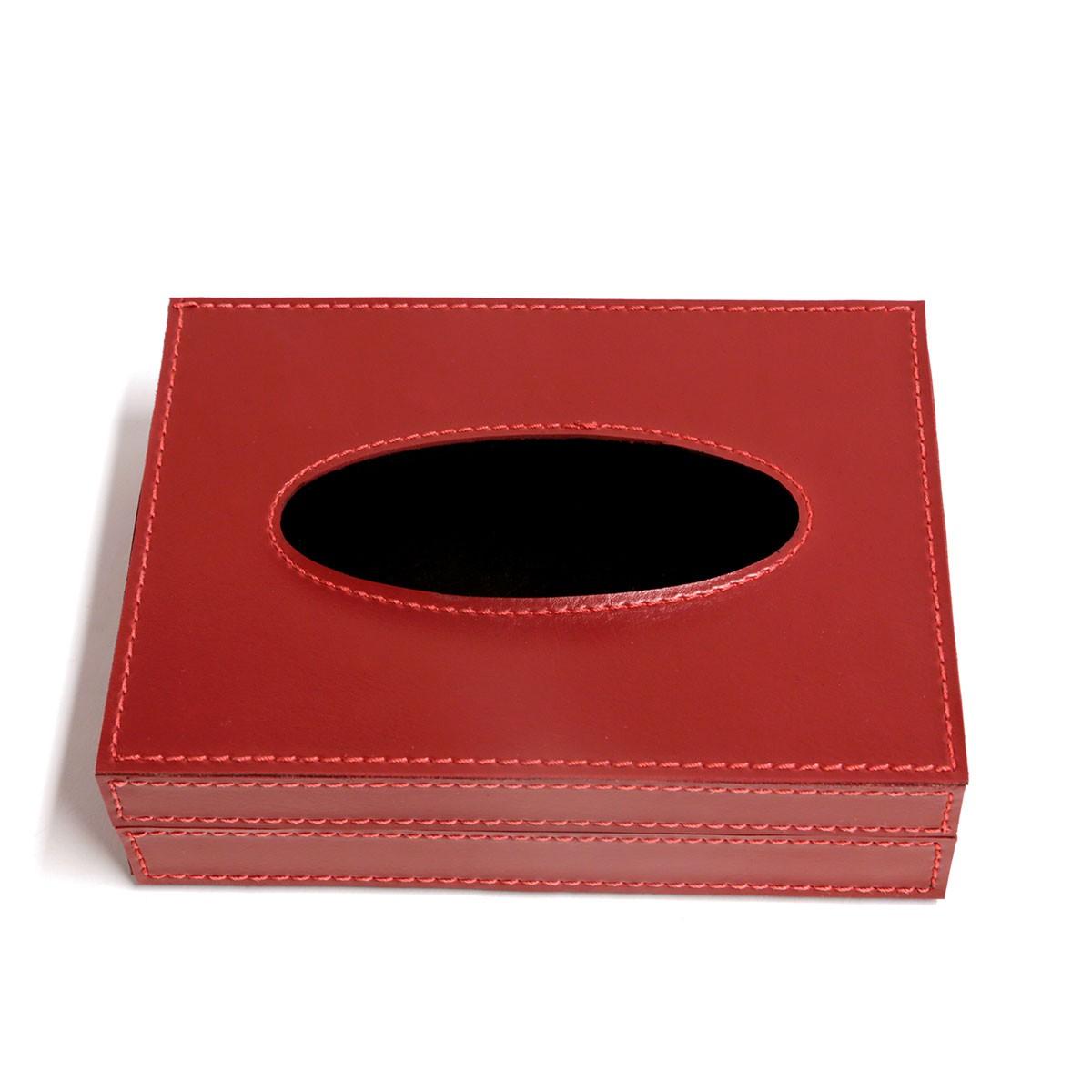 Caixa porta lenços (Montana Vermelho)