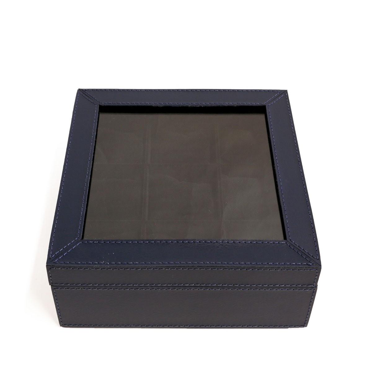 Caixa porta relógios (Montana Azul Marinho)