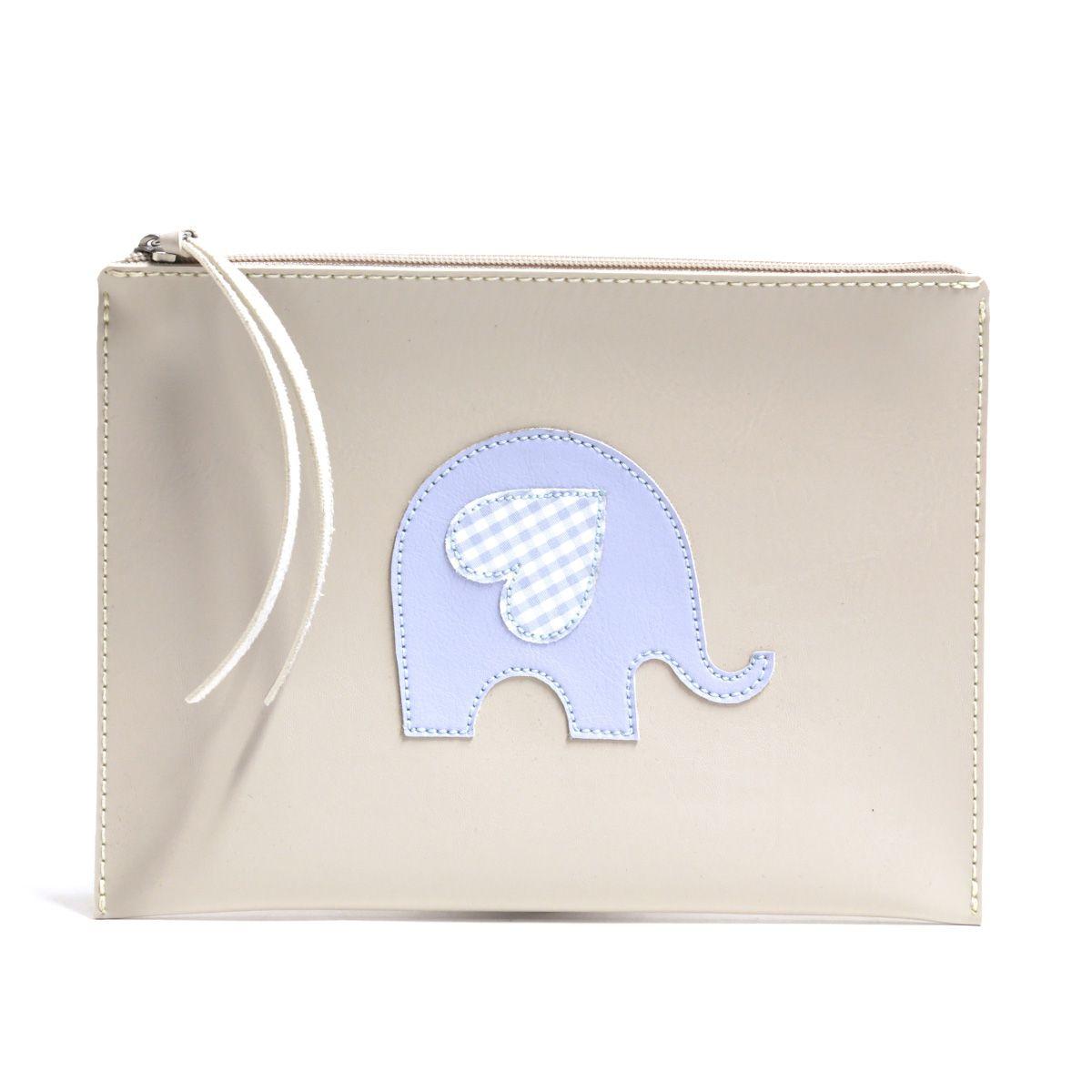 Carteira de mão (Elefante Azul)