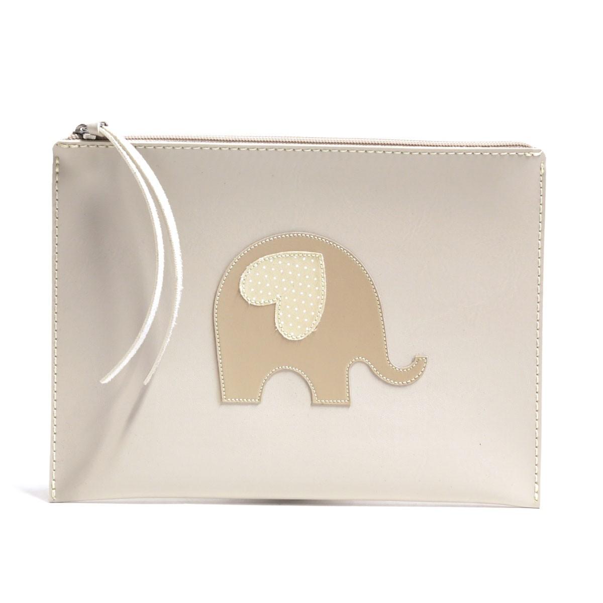 Carteira de mão (Elefante Bege)