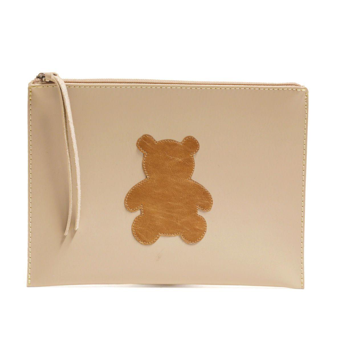 Carteira de mão (Urso Caramelo)
