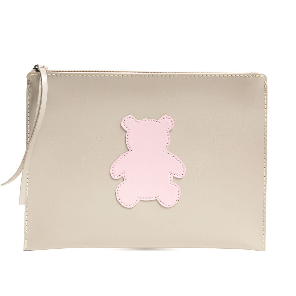 Carteira de mão (Urso Rosa)