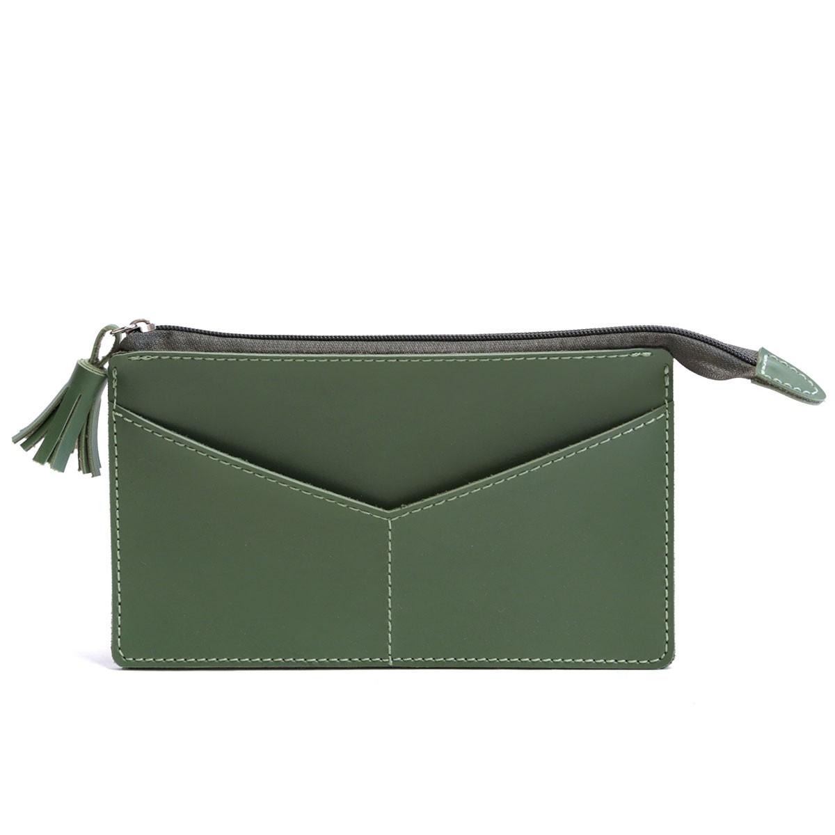 Carteirinha com bolso (Montana Verde Musgo)