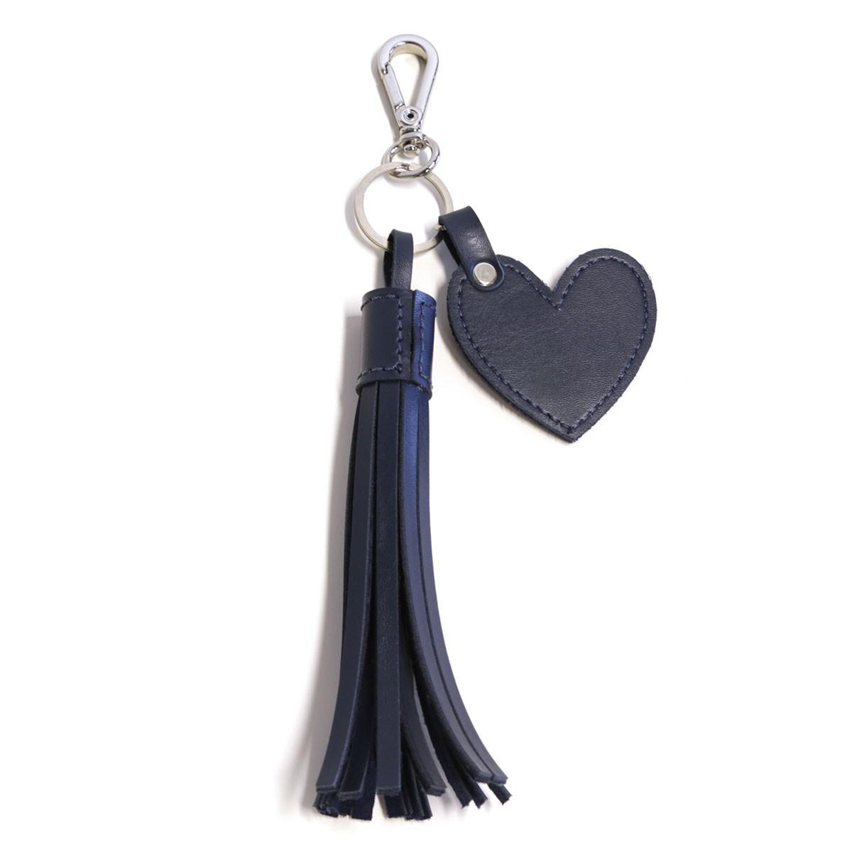 Chaveiro franja e coração (Montana Azul Marinho)