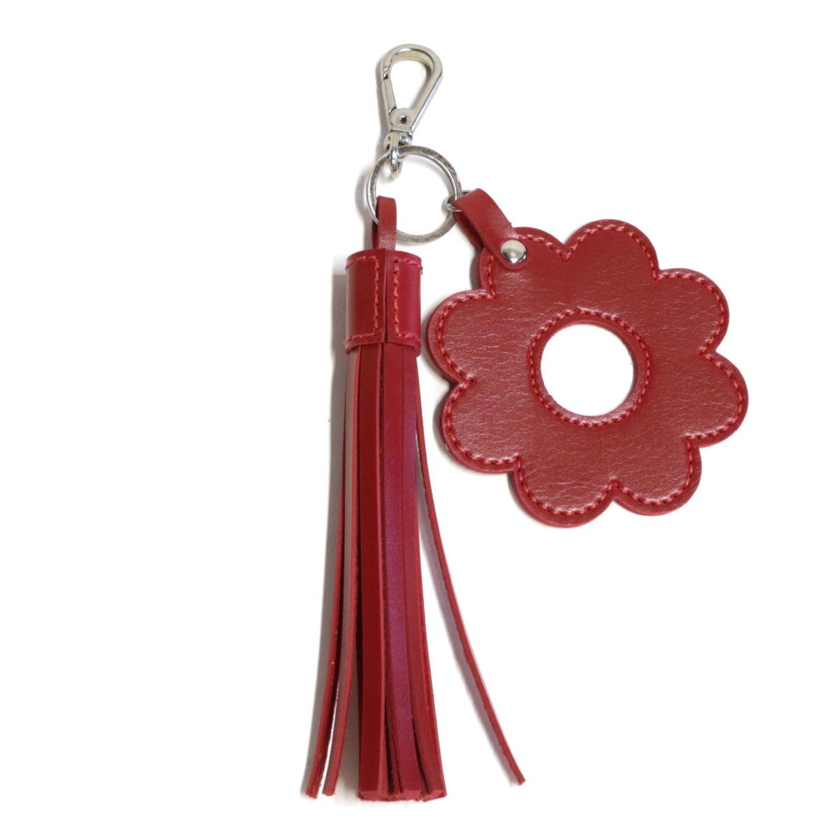 Chaveiro franja e flor (Montana Vermelho)